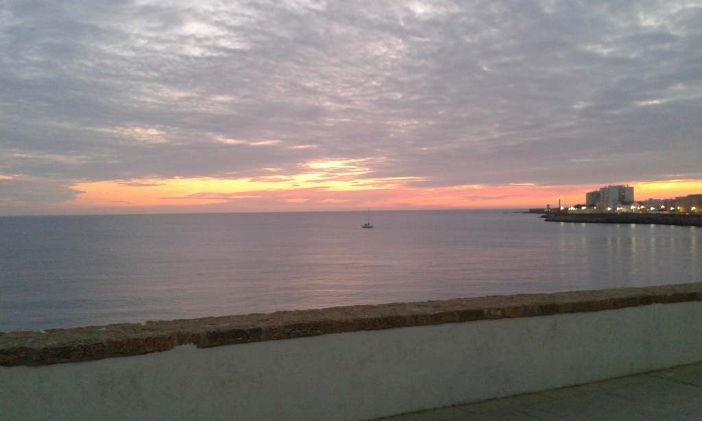 Sunset in Cádiz