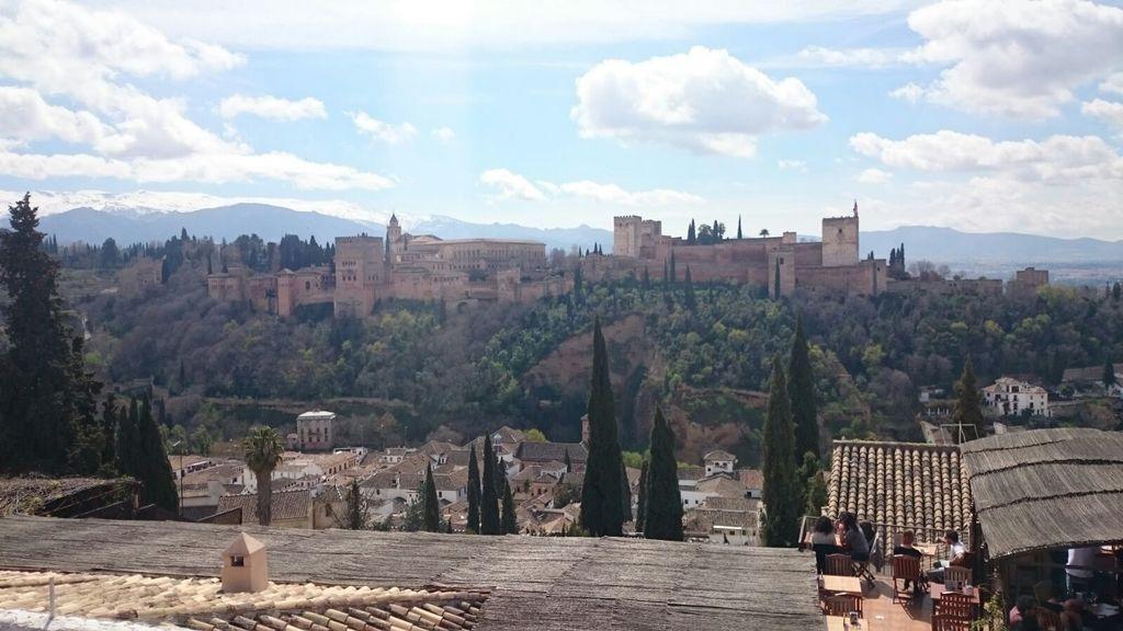 La Alhambra desde uno de los miradores del Albaicín