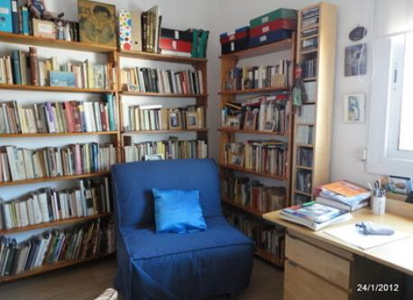 the comfortable sofa bed in my study