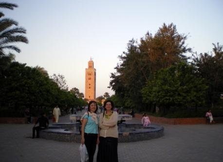 Exchange with Marrakech 2010 -(I'm wearing a light blue blouse)