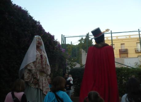 During summer festivals, it is a tradition to walk Gegants