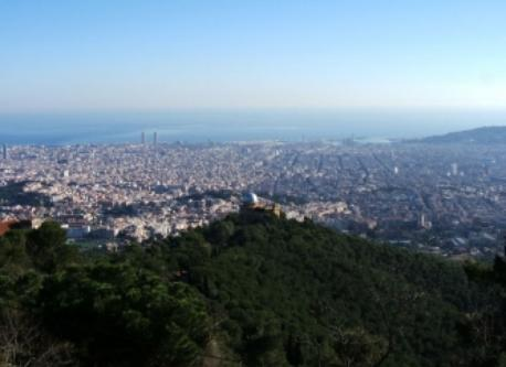 Barcelona as seen from Tibidabo