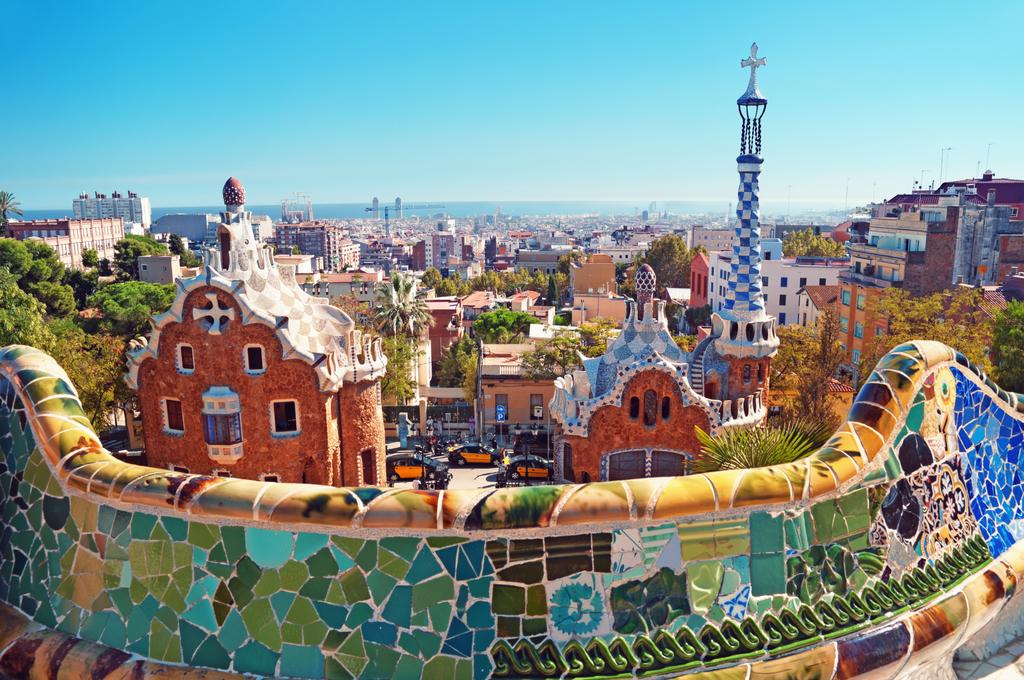 Famous Gaudi's Park Güell.