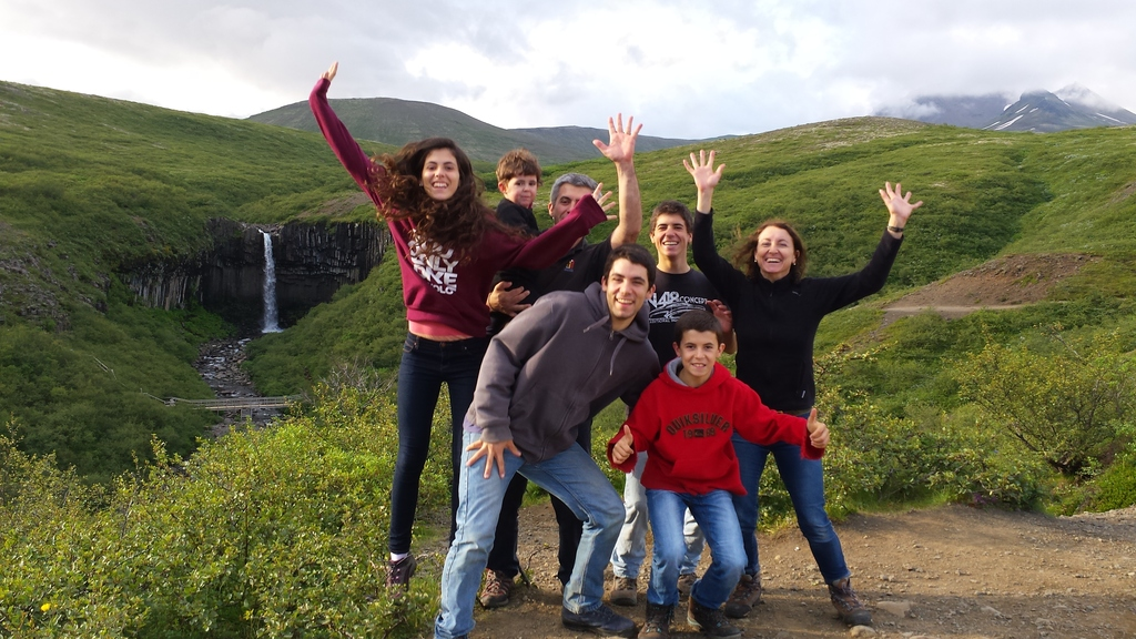 our family having a wonderful time in Iceland