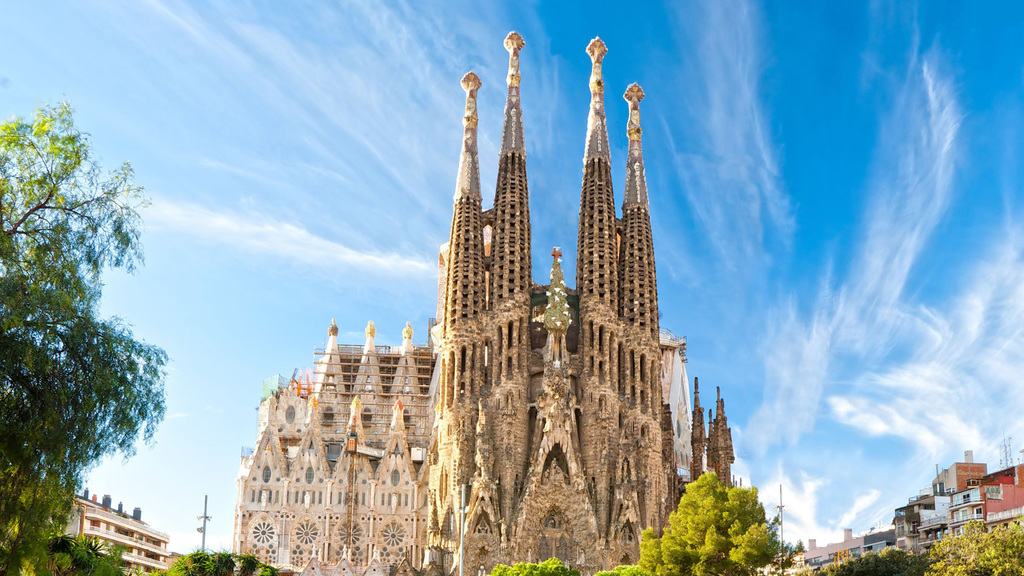 Sagrada Família temple in Barcelona, the most famous Gaudí building
