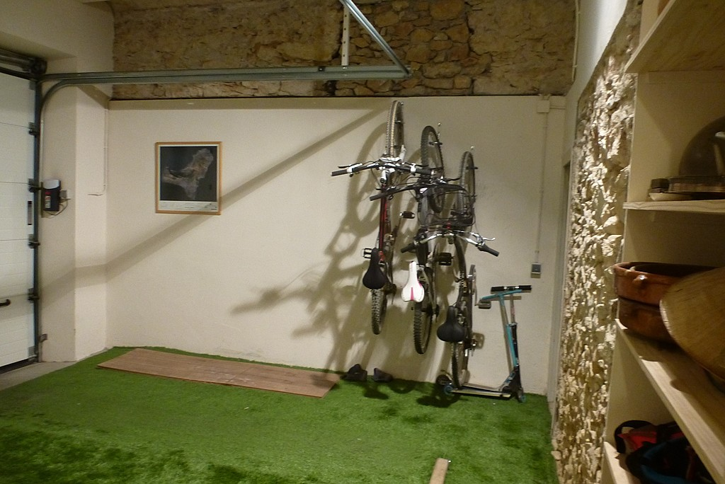 bicycles in the garage