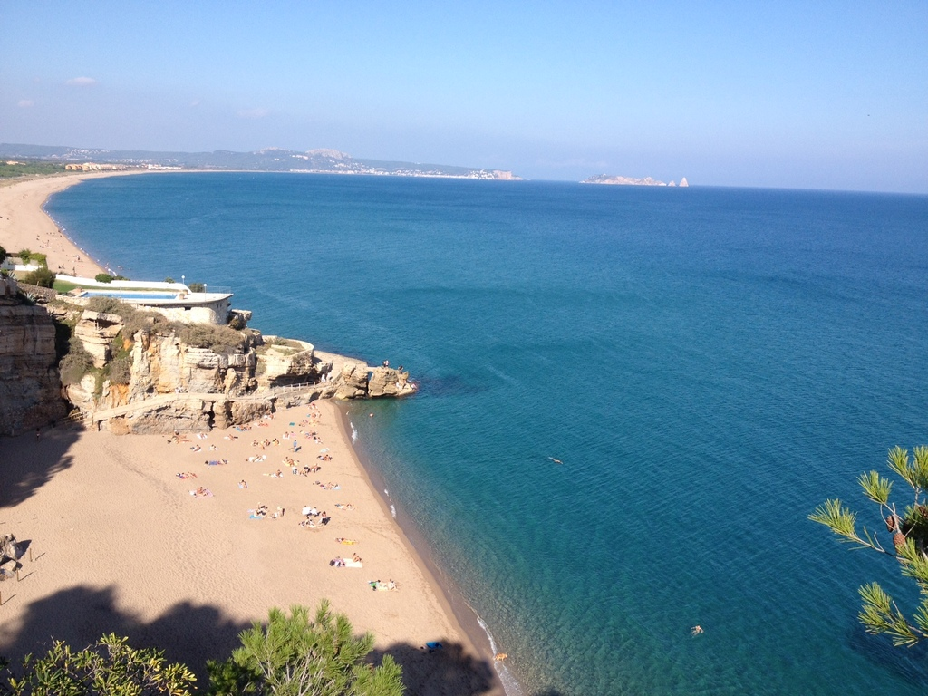 Pals and Begur. The beach