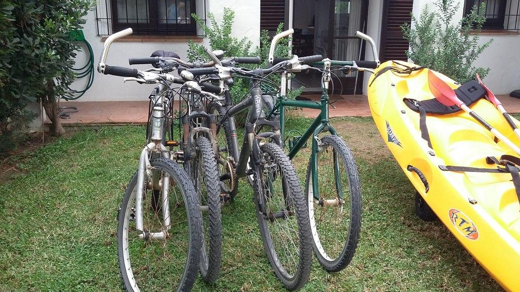 Bicycle and kayak