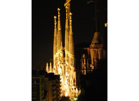 The Sagrada Familia from our house.