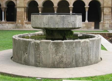 The cloister in the monastery of Sant Cugat