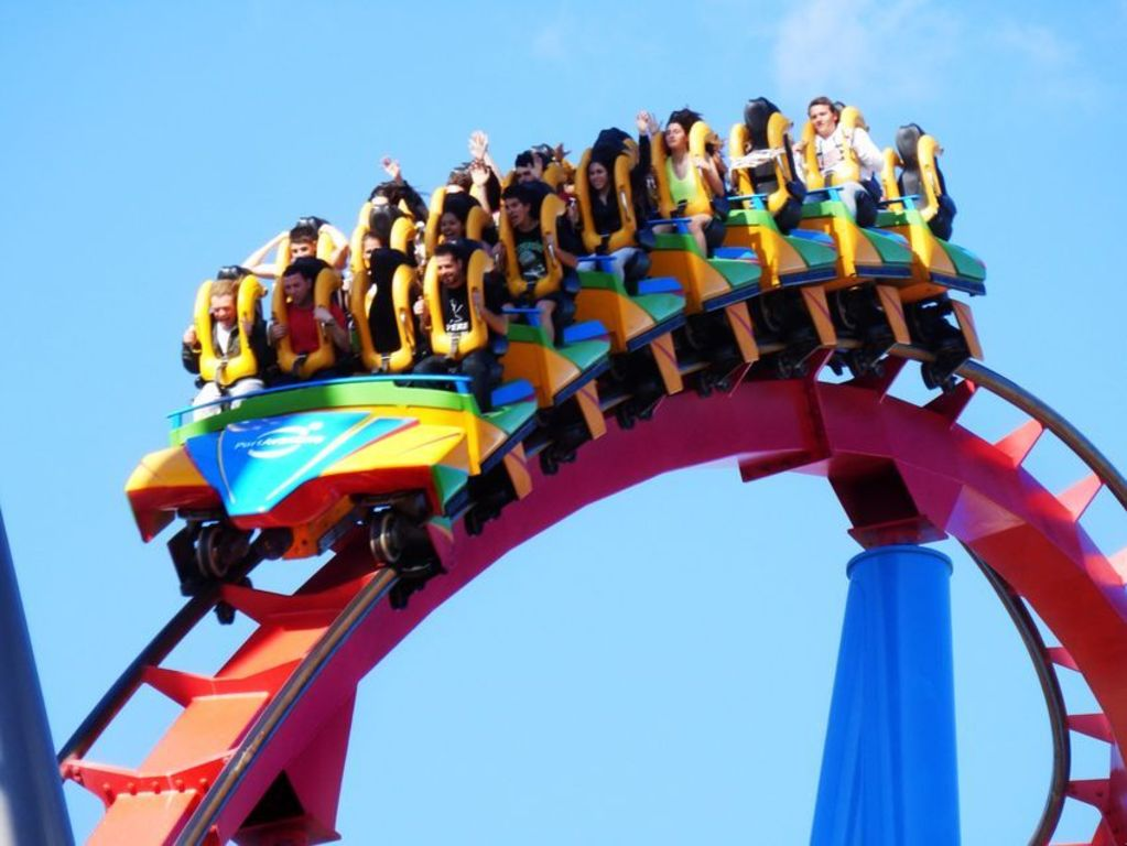 Dragon Khan in Port Aventura Park (40 minutes from our house)