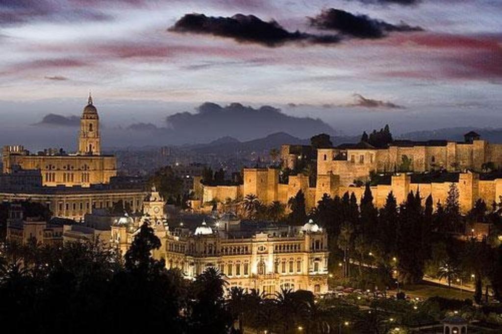 Málaga, sunset