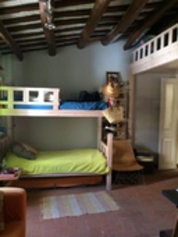 Alex's room. Upstairs.