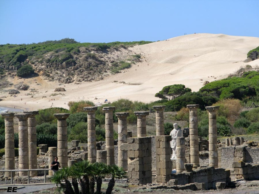 "Archeological site ""Baelo Claudia"" at Bolonia Beach, near Tarifa, 78 km"