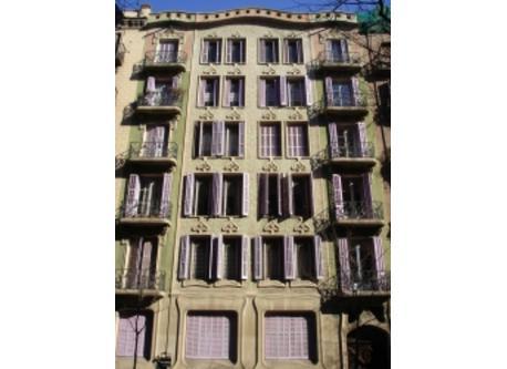 Modernist building in Girona street