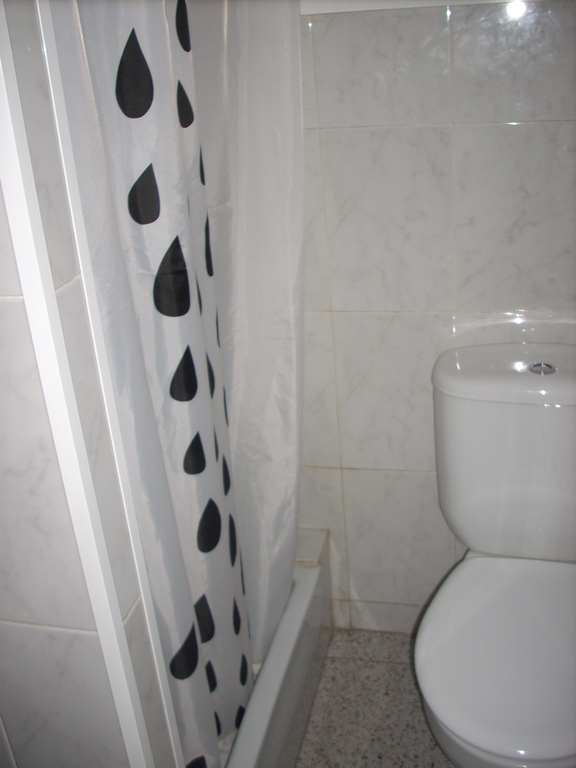 Second bathroom. Both bathrooms have showers, but only this one has a toilet.