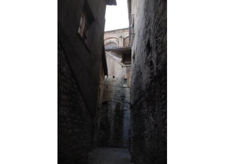 A medieval street in Vic.