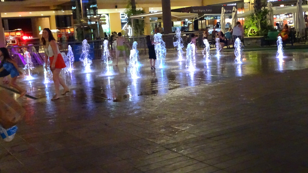A fountain in the shopping center  to play with the water