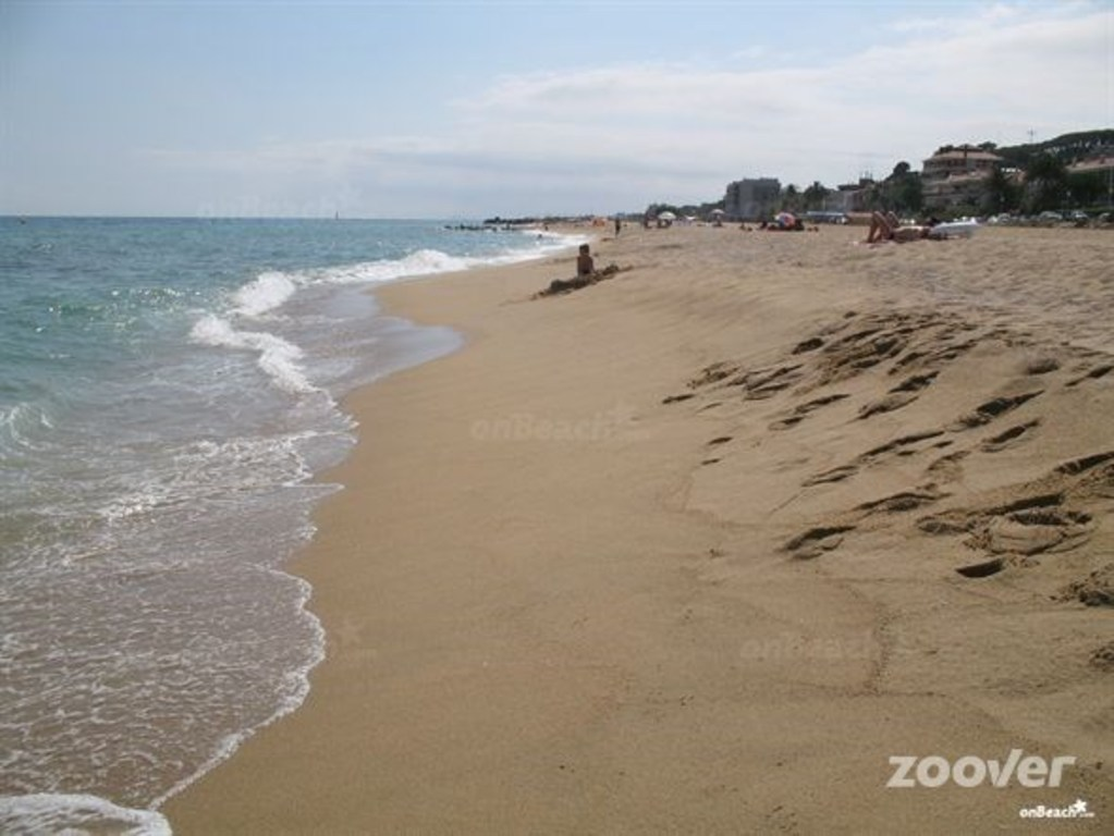 Long beach in Arenys de Mar