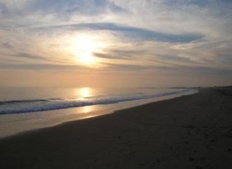 Sunset on the beach of Urbasur