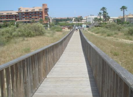 The bridge to the beach
