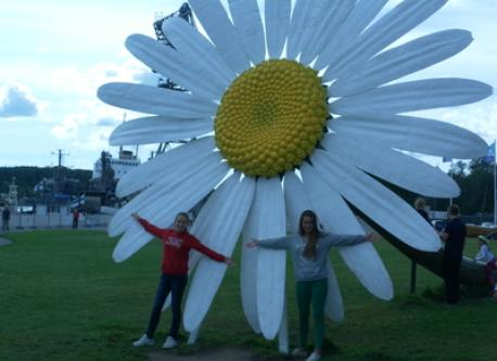 Cristina and Ana in our holidays in Finland