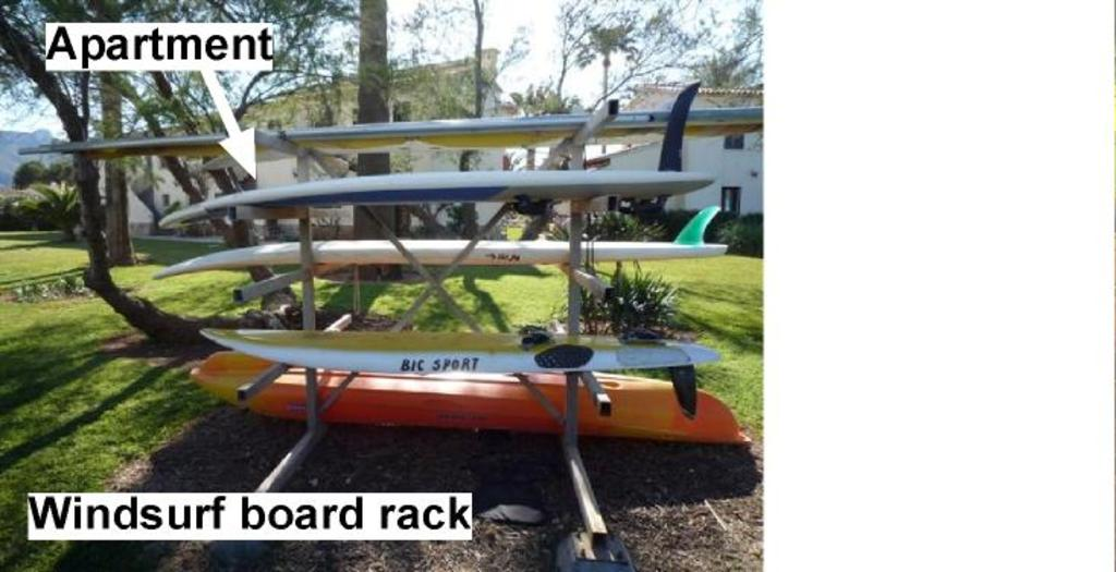 Windsurf and canoas rack