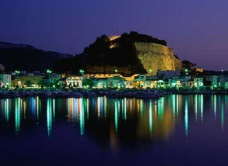 Castle of Denia by night