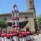 Human towers at the village main square.
