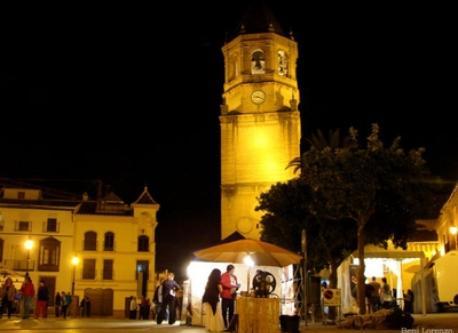 Vélez-Málaga por la noche.