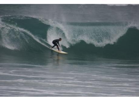 Zurriola, especial para el surf