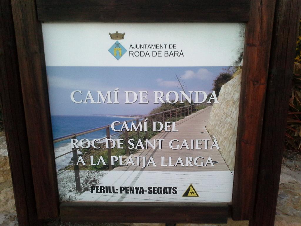 Indicador del Camí del Roc de Sant  Gaietá