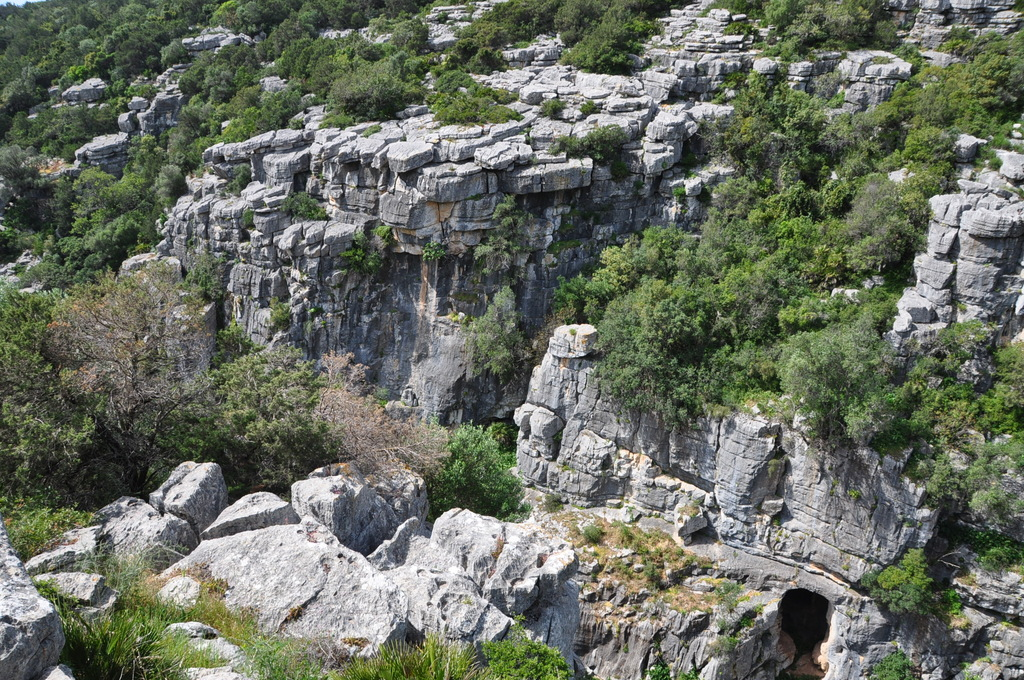 Karstic landscape in a gorge 10 minutes far by car