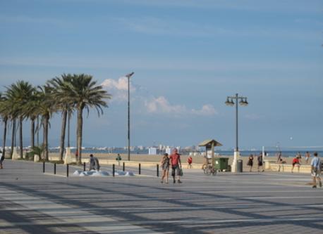 Promenade Along Beach