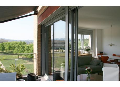 Salón visto desde la terraza