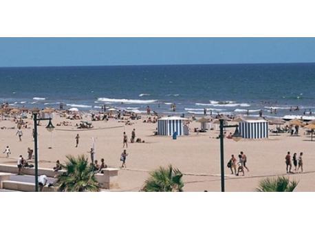 Malvarrosa Beach, the city beach, next to the promenade.