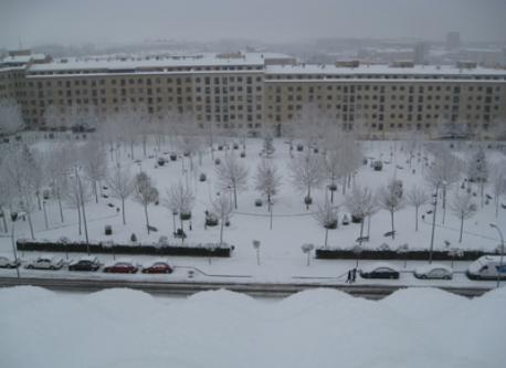 Plaza nevada desde la terraza