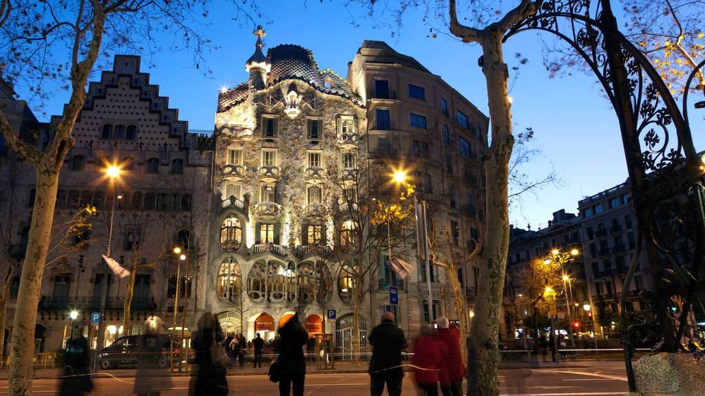 Barcelona, Casa Batlló & casa Ametller. Next to the train station to Sitges