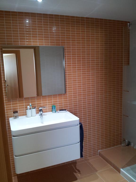 Bathroom with (rain)shower