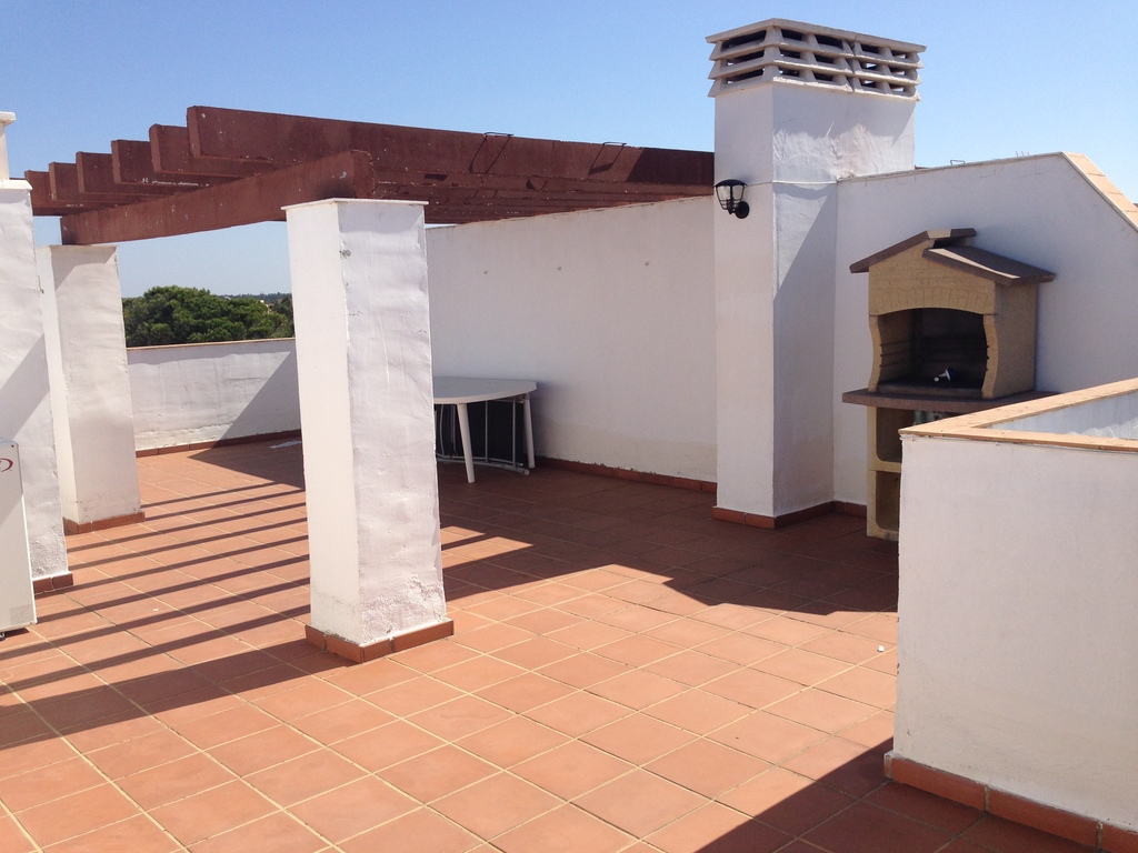 Large sun terrace with barbecue