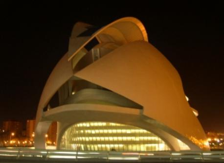 The City of Art and Science in Valencia (the Opera house at night)