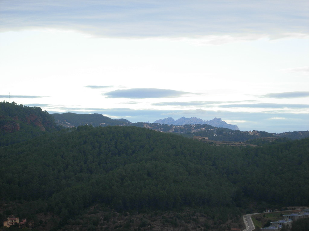 View from our balcony (Montserrat mountains at the end)