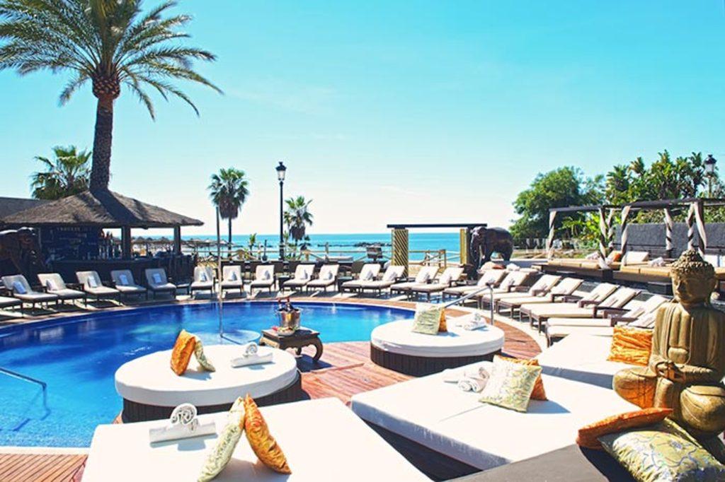 A beach club at Puerto Banús (Marbella)