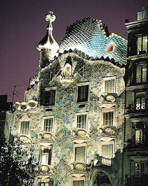 Gaudí's Casa Batlló. Only five minutes walking from our home.