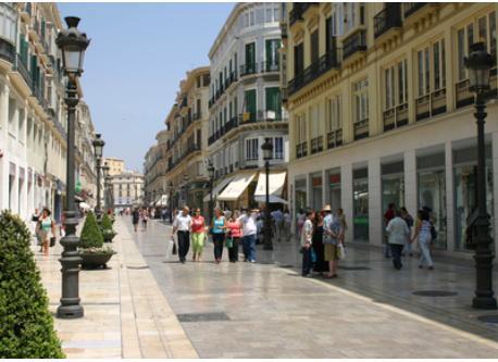 Larios Street (main street of Malaga)