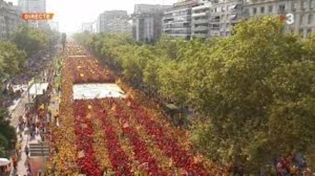 September 11, 2014. National Day of Catalonia.