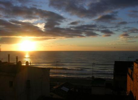 Sunrise from de balcony