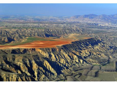 Badlands and cave dwellings in the north of the province of Granada, 90 minutes by car