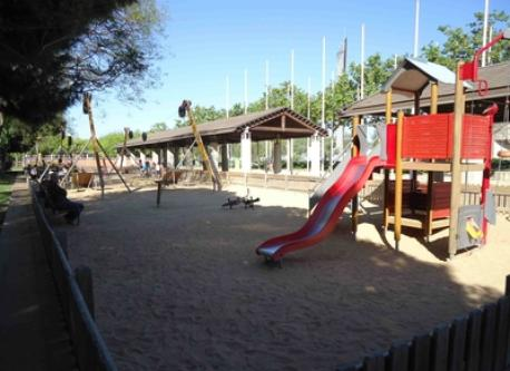 Playground for childrens(1 of 3 = babys1 & childrens2-) near the beach