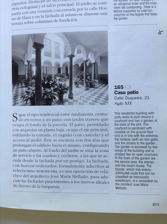 Extract from Architectural Guide to Granada